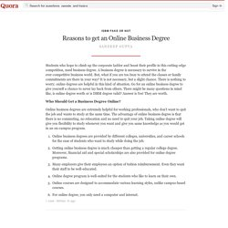 Reasons to get an Online Business Degree - ISBM Fake Or Not - Quora