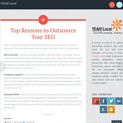 Top Reasons to Outsource Your SEO