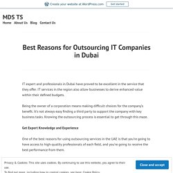 Best Reasons for Outsourcing IT Companies in Dubai