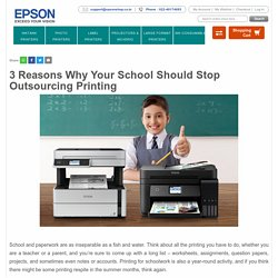 3 Reasons Why Your School Should Stop Outsourcing Printing