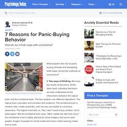 7 Reasons for Panic-Buying Behavior
