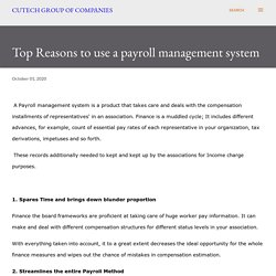 Top Reasons to use a payroll management system