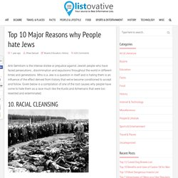 Top 10 Major Reasons why People hate Jews - Listovative