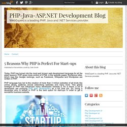 5 Reasons Why PHP is Perfect For Start-ups - PHP-Java-ASP.NET Development Blog