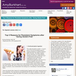 Top 5 reasons for persistent symptoms after going gluten free