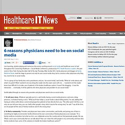 6 reasons physicians need to be on social media