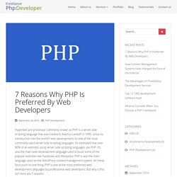 7 Reasons Why PHP Is Preferred By Web Developers