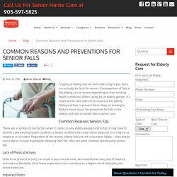 Reasons and Preventions for Senior Falls