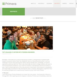Top 5 Reasons to Intern with Primera Engineers - Primera