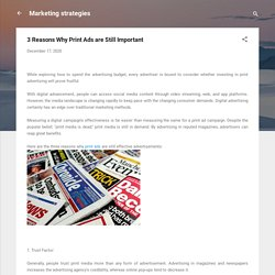 3 Reasons Why Print Ads are Still Important