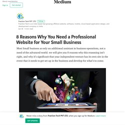 8 Reasons Why You Need a Professional Website for Your Small Business