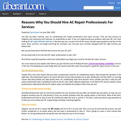 Reasons Why You Should Hire AC Repair Professionals For Services