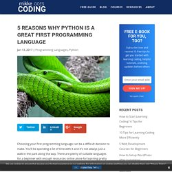5 Reasons Why Python Is a Great First Programming Language - Mikke Goes Coding