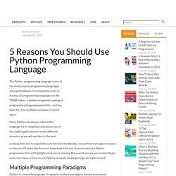 5 Reasons You Should Use Python Programming Language