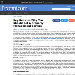 One Reasons Why You Should Get A Property Management Service
