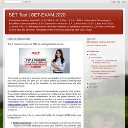 SET-EXAM 2020: Top 5 reasons to pursue BBA as undergraduate course