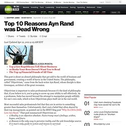 Top 10 Reasons Ayn Rand was Dead Wrong