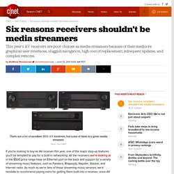 Six reasons receivers shouldn't be media streamers - CNET
