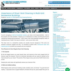Importance of Dryer Vent Cleaning in Multi-Unit Residential Buildings