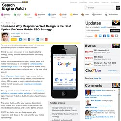 3 Reasons Why Responsive Web Design is the Best Option For Your Mobile SEO Strategy