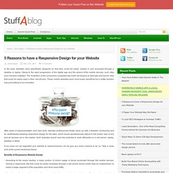 5 Reasons to have a Responsive Design for your Website
