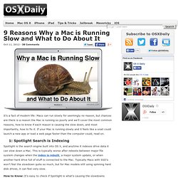 9 Reasons Why a Mac is Running Slow and What to Do About It