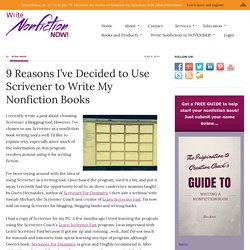 9 Reasons I've Decided to Use Scrivener to Write My Nonfiction Books