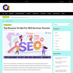 Top Reasons To Opt For SEO Services Toronto