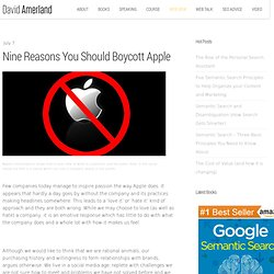 Nine Reasons You Should Boycott Apple