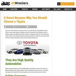 8 Smart Reasons Why You Should Choose a Toyota -