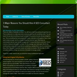 3 Major Reasons You Should Hire A SEO Consultant Today