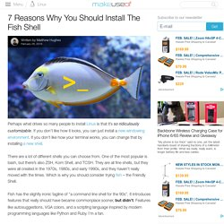 7 Reasons Why You Should Install The Fish Shell