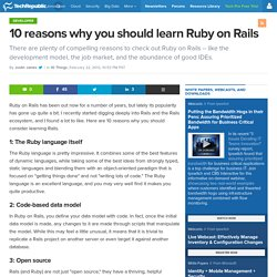 10 reasons why you should learn Ruby on Rails
