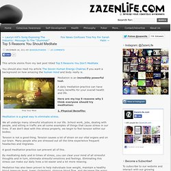 » Top 5 Reasons You Should Meditate Zazen Life