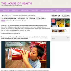 20 Reasons Why You Shouldn't Drink Coca-Cola