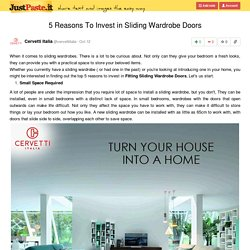 5 Reasons To Invest in Sliding Wardrobe Doors