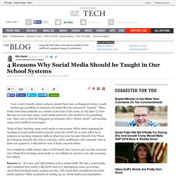 Kim Garst: 4 Reasons Why Social Media Should be Taught in Our School Systems