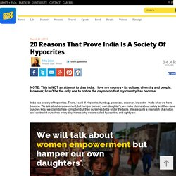 20 Reasons That Prove India Is A Society Of Hypocrites