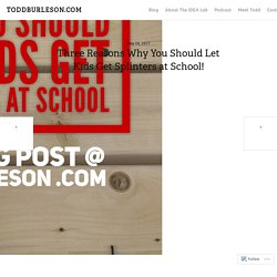 Three Reasons Why You Should Let Kids Get Splinters at School! – TODDBURLESON.COM