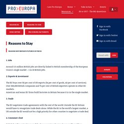 Reasons to Stay - Pro Europa