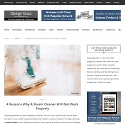4 Reasons Why A Steam Cleaner Will Not Work Properly