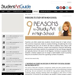 9 Reasons to Study Art in High School