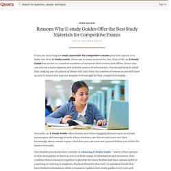 Reasons Why E-study Guides Offer the Best Study Materials for Competitive Exams