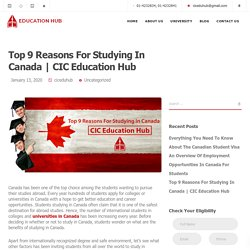 Top 9 Reasons For Studying In Canada