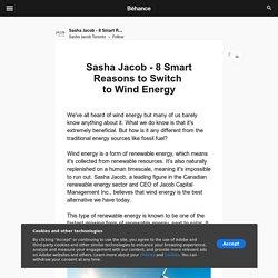 Sasha Jacob - 8 Smart Reasons to Switch to Wind Energy
