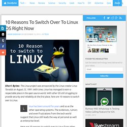 10 Reasons To Switch Over To Linux OS Right Now