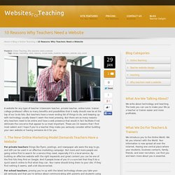 10 Reasons Why Teachers Need a Website