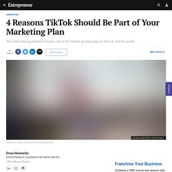 4 Reasons TikTok Should Be Part of Your Marketing Plan