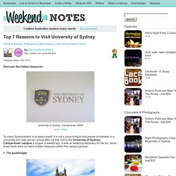 Top 7 Reasons to Visit University of Sydney