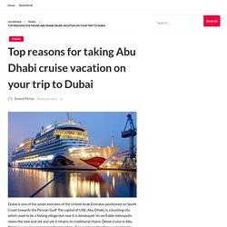 Top reasons for taking Abu Dhabi cruise vacation on your trip to Dubai – Adventure Bim Bling